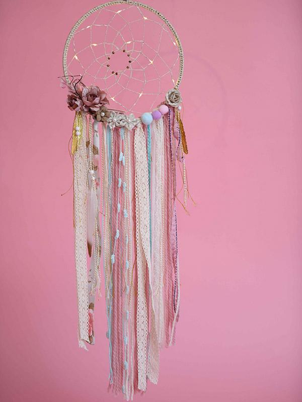 """Ονειροπαγίδα XL με φως """"Romance Floral"""""""