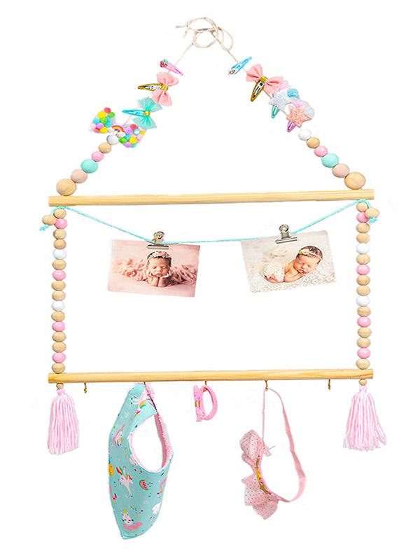 Ξύλινο κρεμαστό Διακοσμητικό - Organizer Little Fairy house
